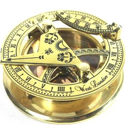 Sundial Compass (brass) with wooden box