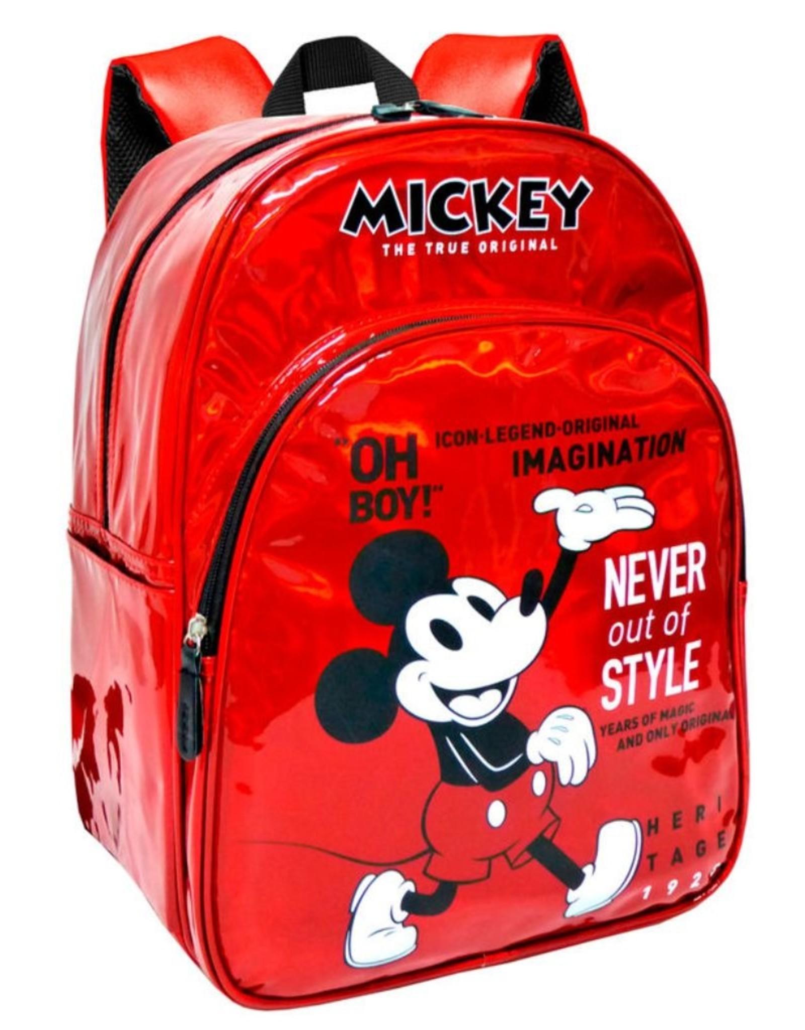 ToyBags Disney tassen - Mickey 90 Jaar Holografische Disney rugzak 40cm