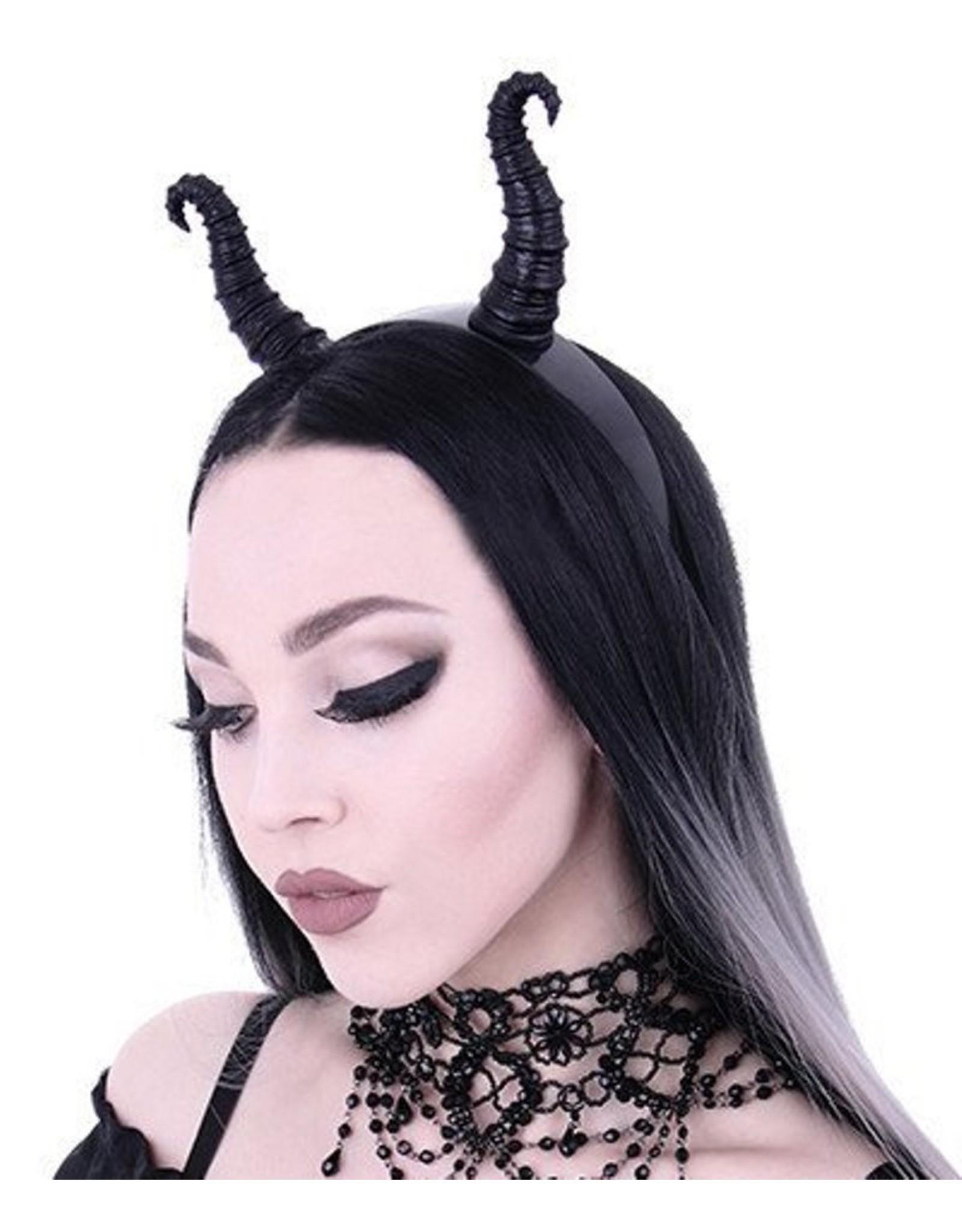 Restyle Gothic en Steampunk accessoires - Maleficent Hoorns Gothic en Fantasy haarband