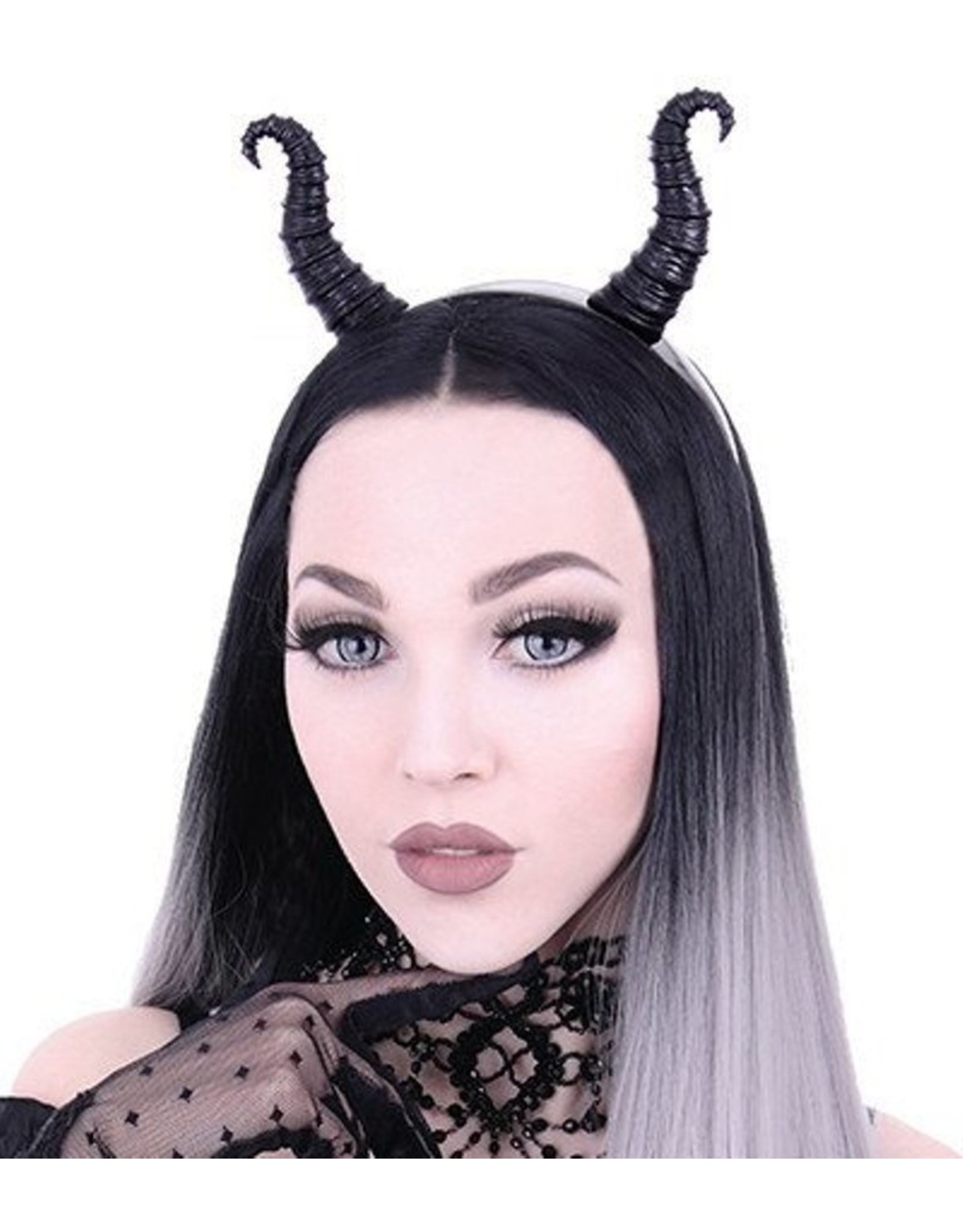 Restyle Gothic and Steampunk accessories - Maleficent Horns Gothic and Fantasy headband