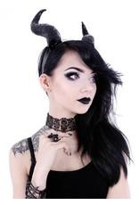 Restyle Gothic en Steampunk accessoires - Lange Hoorns Fantasy haarband