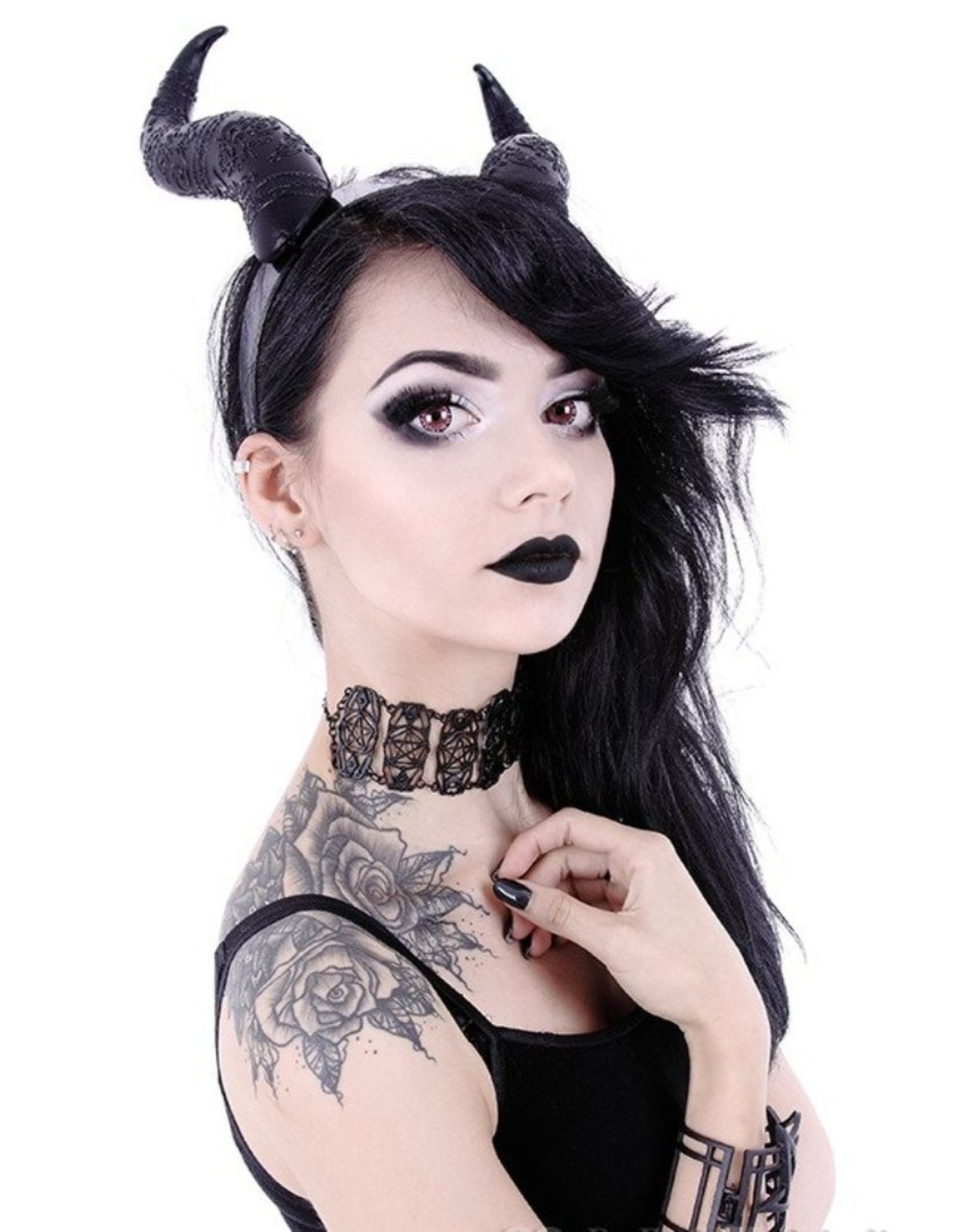 Restyle Gothic and Steampunk accessories - Long Horns Fantasy headband