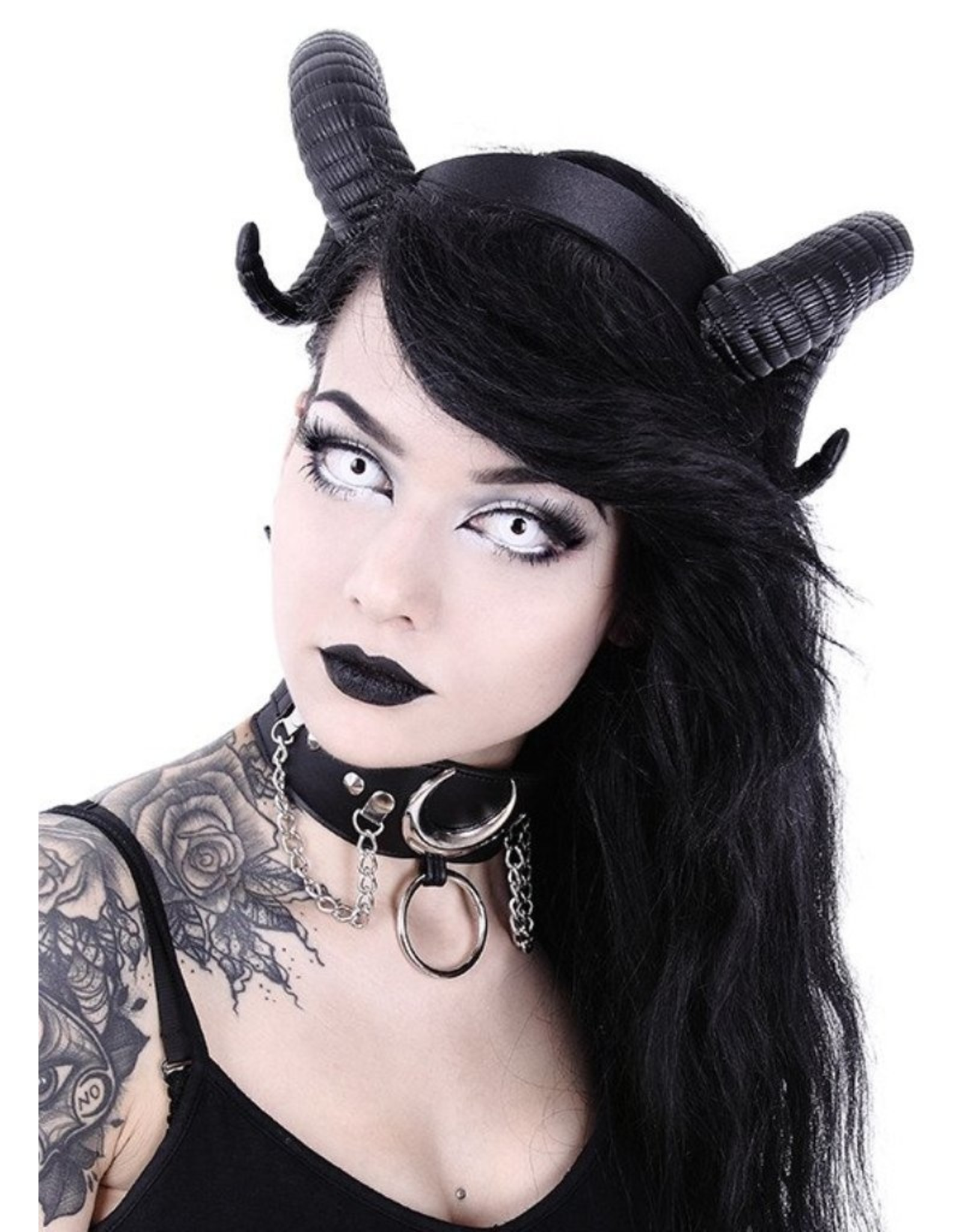 Restyle Gothic and Steampunk accessories - Ram Horns Gothic and Fantasy headband Sinister