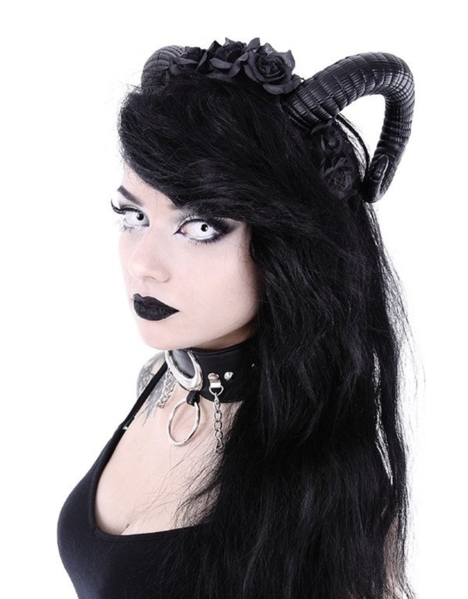 Restyle Gothic and Steampunk accessories - Ram Horns Sinister and Roses headband