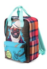 Krazymals Backpacks  and fanny packs -  Krazymals backpack Pug wearing glasses and hat