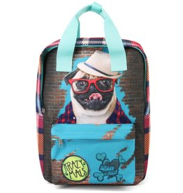 Krazymals Krazymals backpack Pug wearing glasses and hat