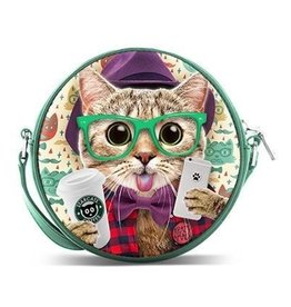 Krazymals Krazymals shoulder bag Cat wearing glasses