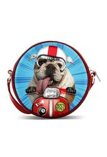 Krazymals Fashion bags - Krazymals shoulder bag Bulldog on the motorcycle
