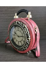 Magic Bags Steampunk bags Gothic bags - Handbag with real Clock red