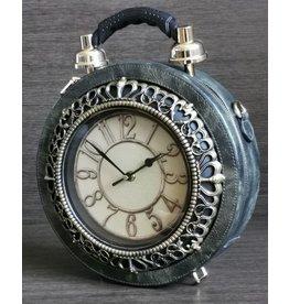 Magic Bags Handbag with real Clock green (large)