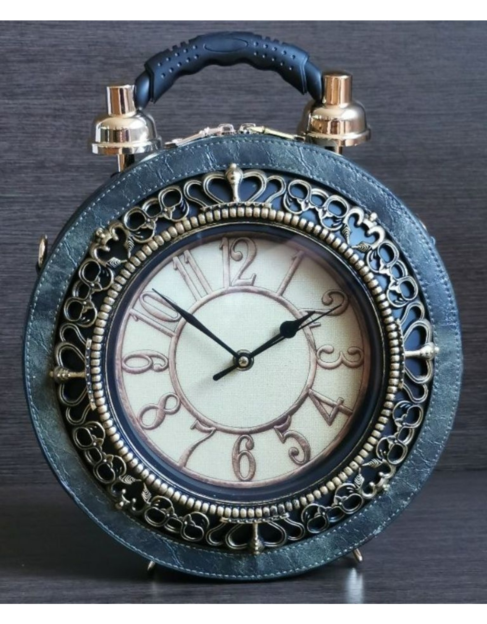 Magic Bags Steampunk bags Gothic bags - Handbag with real Clock green (large)