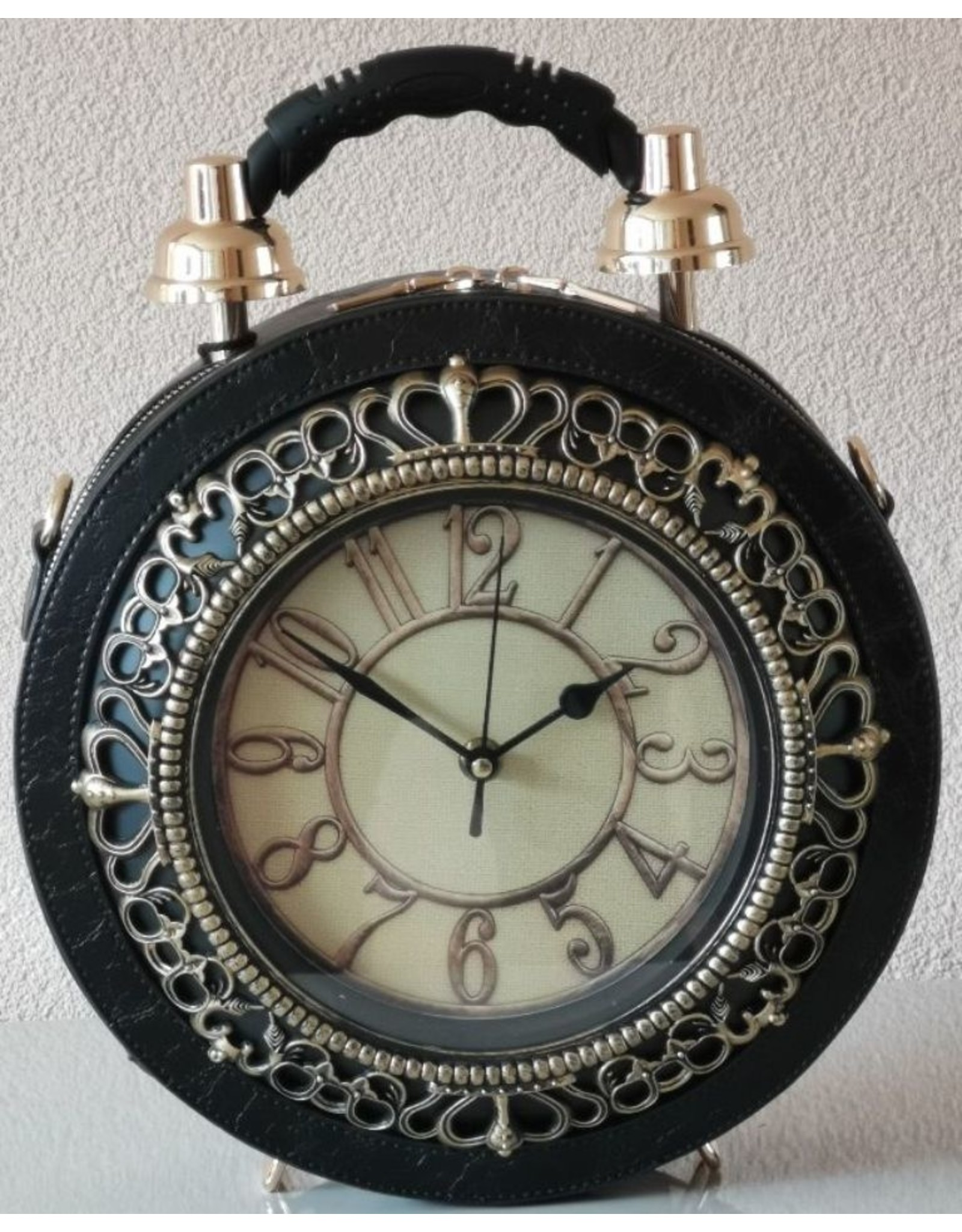 Magic Bags Steampunk tassen Gotic tassen - Handtas met werkende Klok zwart (groot)