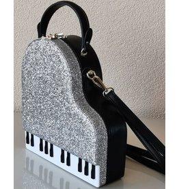 Magic Bags Handtas Grand Piano (zilver)