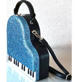 Magic Bags Handtas Grand Piano (blauw)