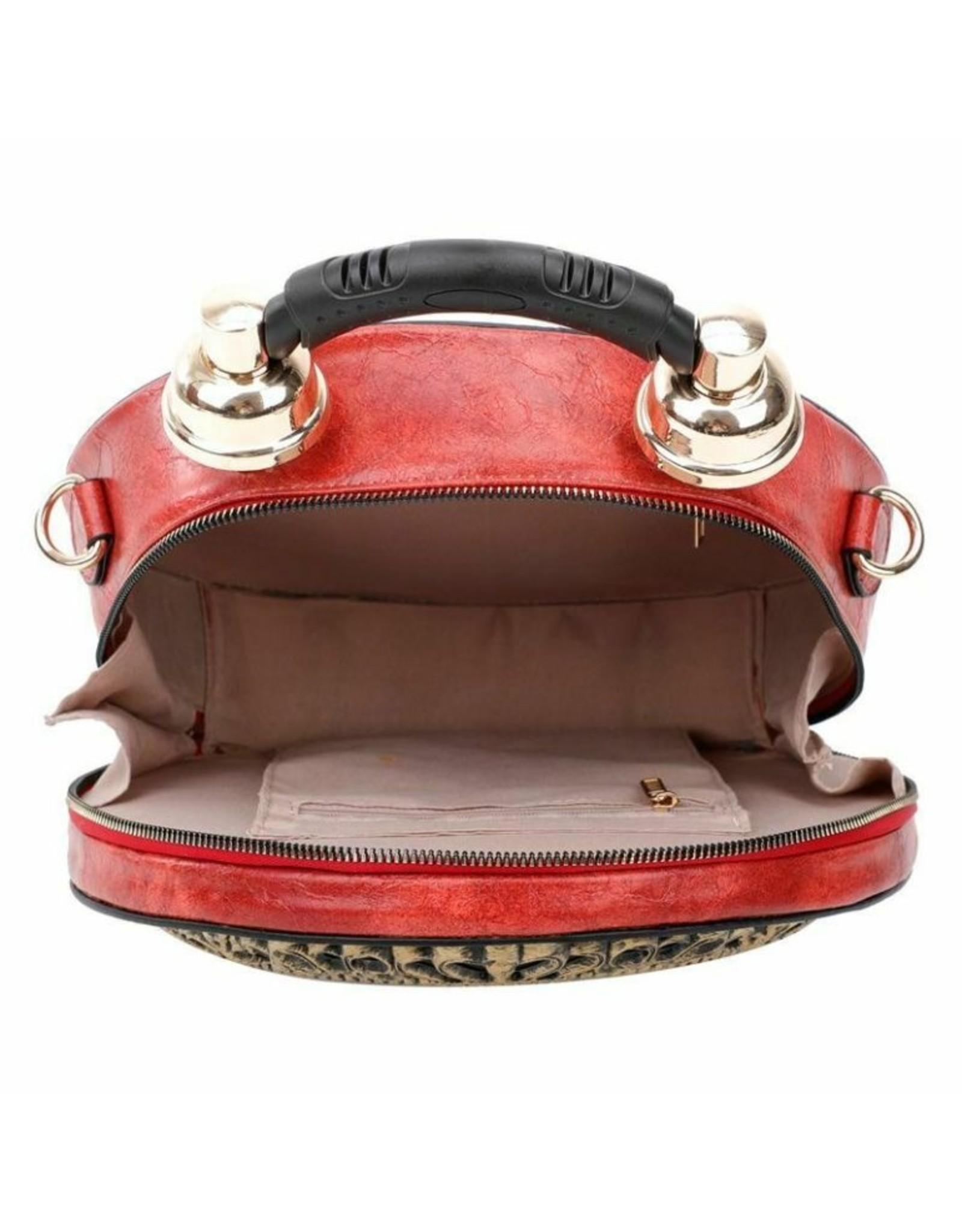 Magic Bags Steampunk tassen Gothic tassen -  Handtas met werkende Klok rood