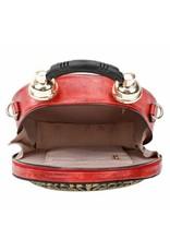 Magic Bags Steampunk tassen Gotic tassen - Handtas met werkende Klok zilver-grijs (groot)