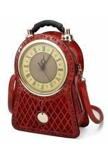 Magic Bags Fantasy bags and wallets - Backpack with Real Clock large (red)