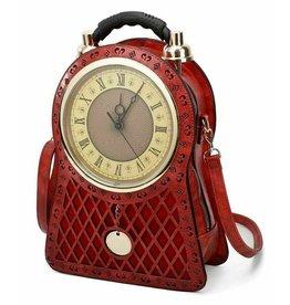 Magic Bags Rugtas met Werkende Klok large (rood)