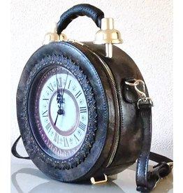 Magic Bags Handbag with Real Clock brown (medium)