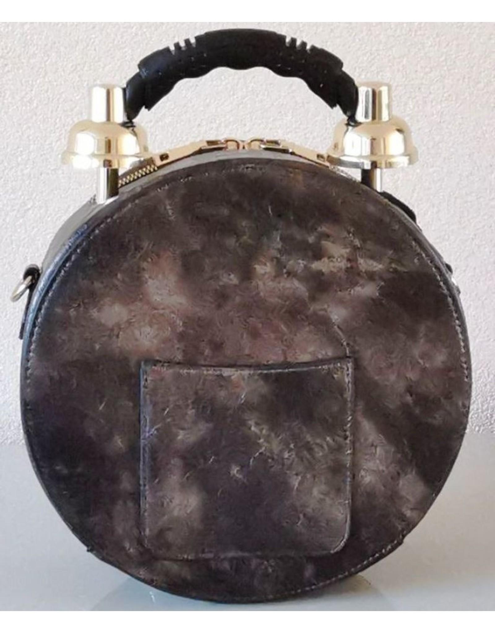 Magic Bags Steampunk bags Gothic bags - Handbag with Real Clock brown (medium)