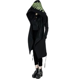 Restyle Long Hoodie with oversized hood Forest Witch - Restyle