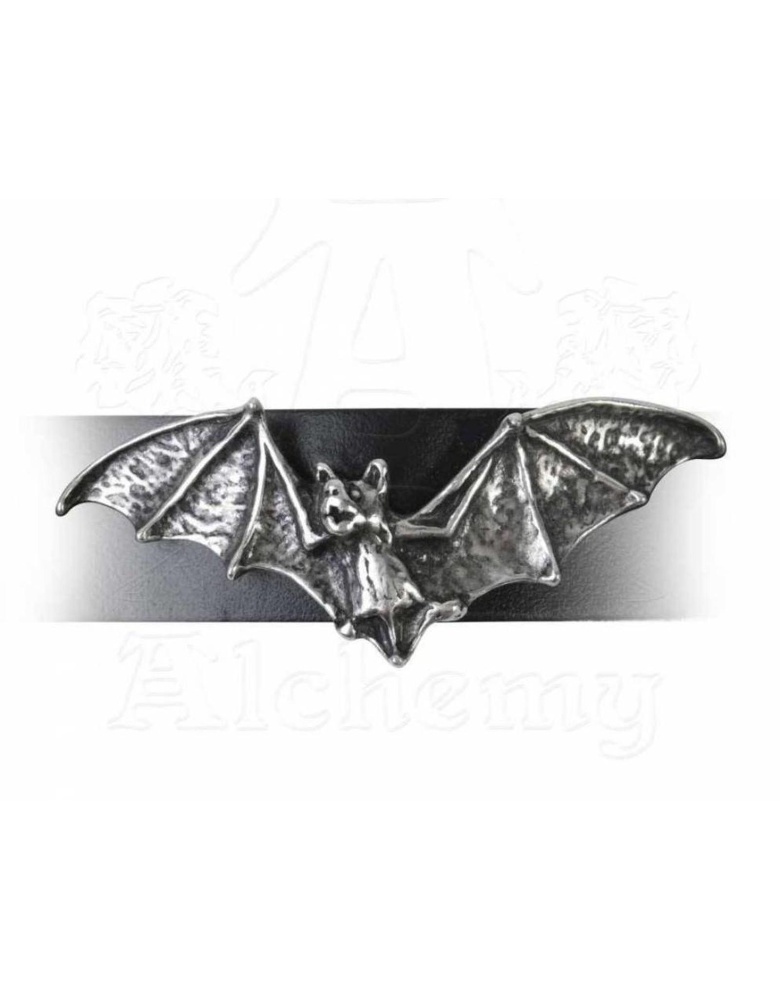 Alchemy Gothic sieraden Steampunk sieraden - Leren armband met tinnen Vleermuis Desmodus - Alchemy