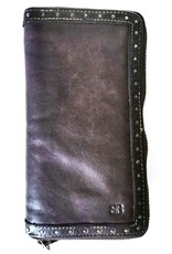 Bellicci Leather Wallets - Leather purse washed leather Bellicci (d.brown)
