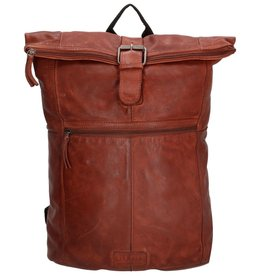 "Old West Roll-Top backpack Old West 13,3"" (dark cognac)"