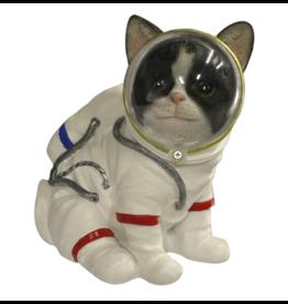 Kat Astronaut beeldje 17cm