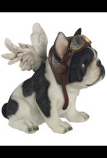 jj vaillant Giftware Beelden Collectables - Bulldog met Vleugels beeldje 16cm