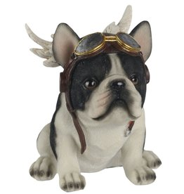 Trukado Bulldog met Vleugels beeldje 16cm