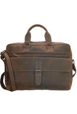 "Old West Leather laptop bags - Laptop bag Old West 15,6"" (dark brown)"