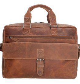 "Old West Laptoptas Old West 15,6 "" gelooid leer (camel)"