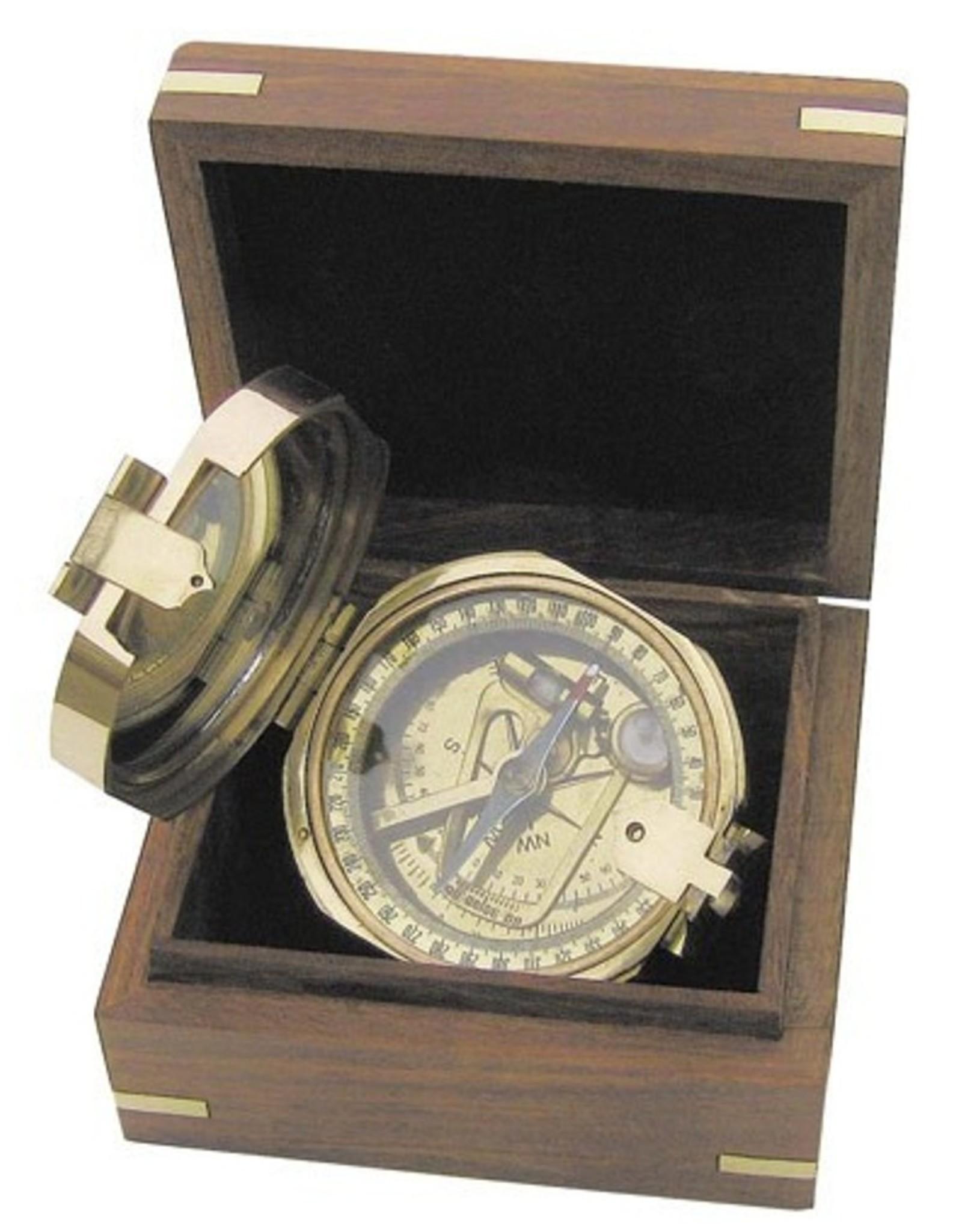 Trukado Giftware en Collectables -  Brunton Kompas met peilspiegel (messing)