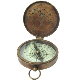 Compass with Lid (brass)