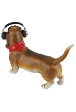 Trukado Giftware Figurines Collectables - Dachshund dog with Headphones figurine