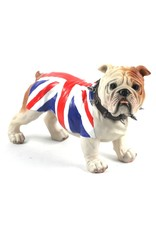 jj vaillant Giftware Beelden Collectables - Engelse Bulldog Union Jack (stand)