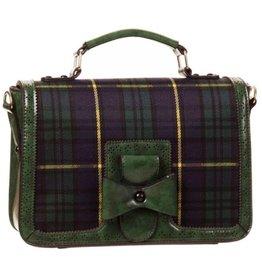 Banned Banned Retro handbag Tartan green