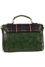Banned Retro bags  Vintage bags - Banned Retro handbag Tartan green