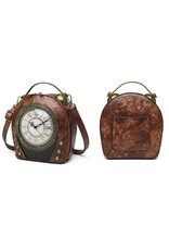 Magic Bags Steampunk bags Gothic bags -  Vintage Clock handbag with working Clock (brown)