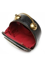 Magic Bags Steampunk bags Gothic bags - Steampunk Vintage Clock handbag with working Clock (black-red)