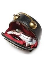 Magic Bags Steampunk tassen Gothic tassen - Steampunk Klok handtas met werkende Klok (rood-zwart)