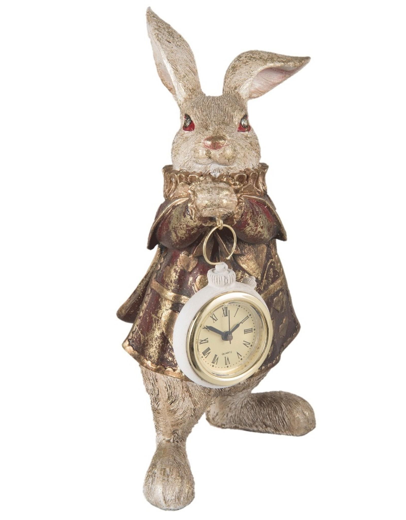 Alice in Wonderland Giftware Beelden Collectables - Konijn met Klok  beeldje 25cm