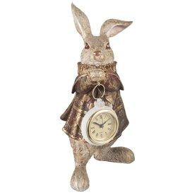 Alice in Wonderland Konijn met Klok  beeldje 25cm