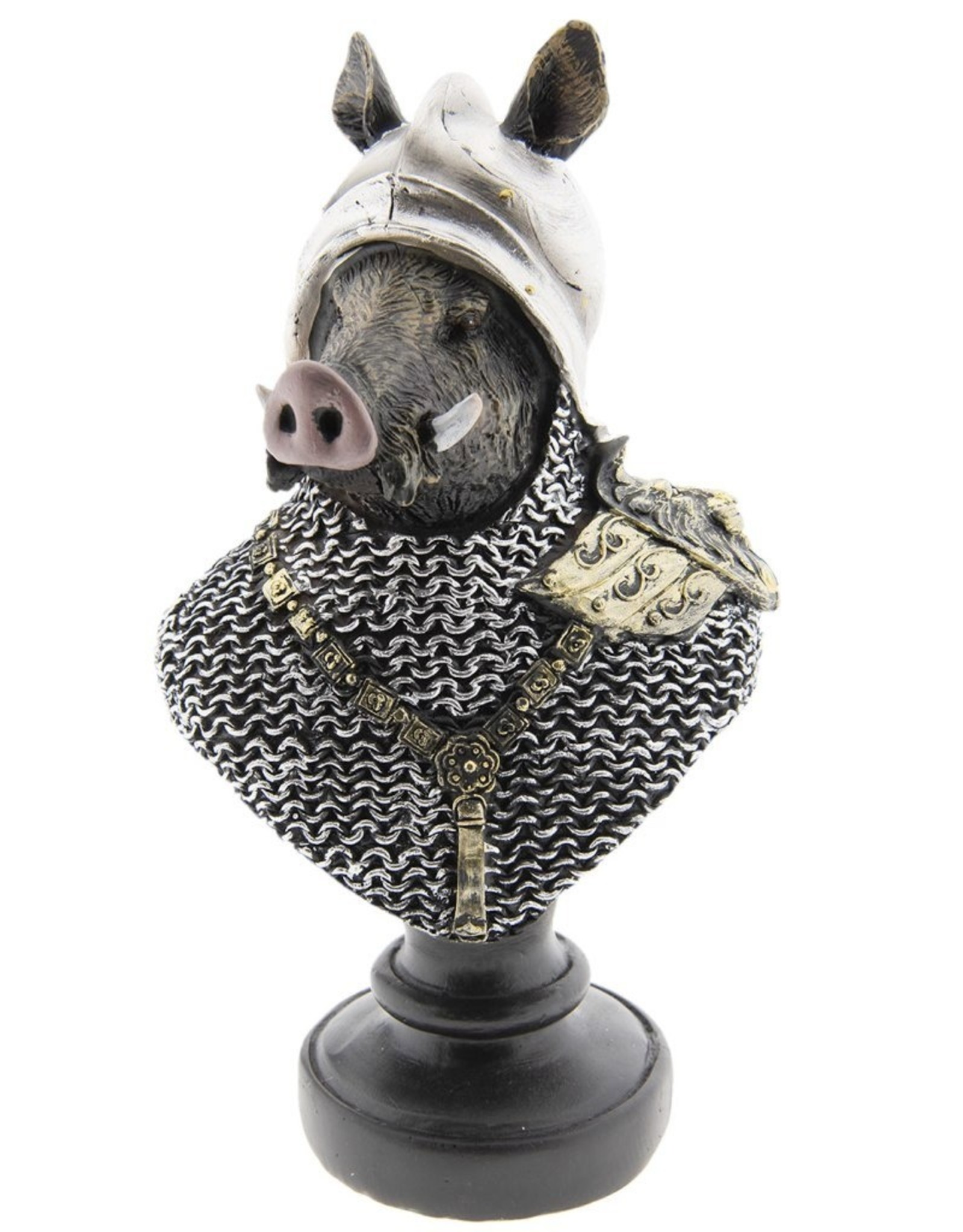 Wild Zwijn ridder beeld Giftware Beelden Collectables - Wild Zwijn Ridder beeld 25cm (buste)