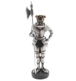 Bulldog Middeleeuwse Ridder beeld Bulldog Medieval Knight statue 33cm
