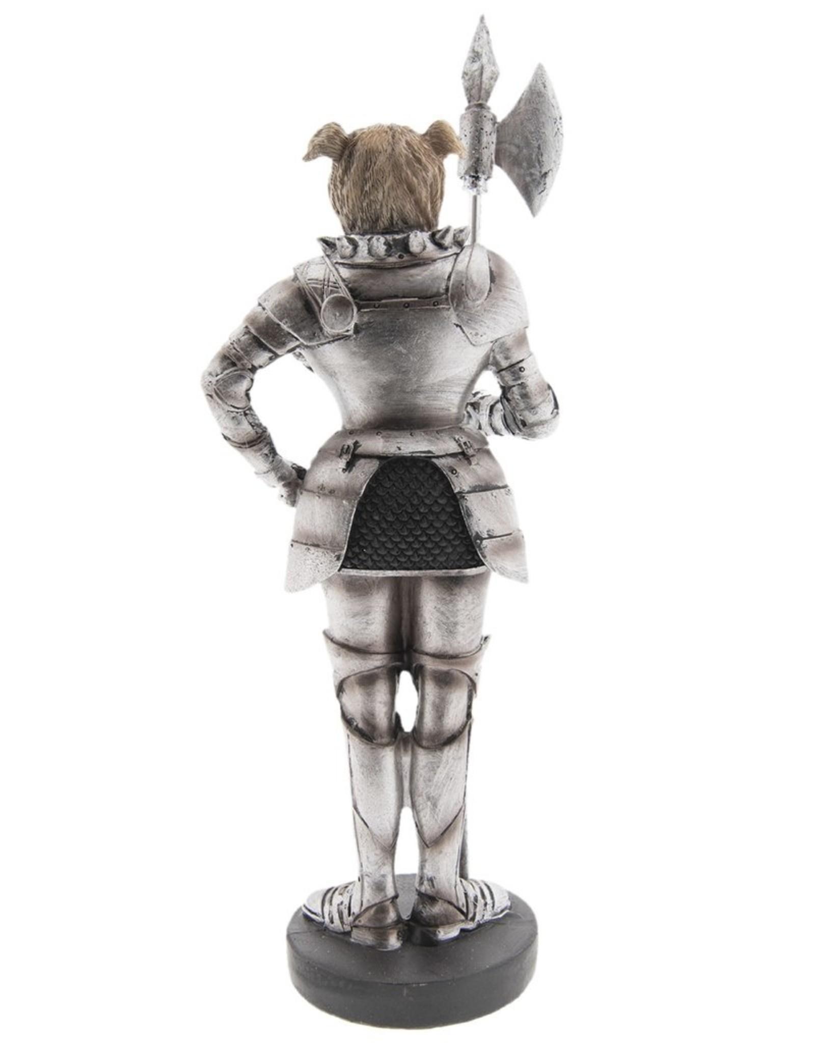 Bulldog Middeleeuwse Ridder beeld Giftware Beelden Collectables - Bulldog Middeleeuwse Ridder beeld 33cm