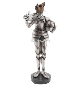 Herder Hond Middeleeuwse Ridder beeld - 32cm Shepherd Dog Medieval Knight statue 32cm