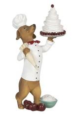 Hond Banketbakker met Taart beeld Giftware Beelden Collectables - Hond Banketbakker met Taart beeld 24cm