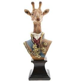 Giraf Maarschalk beeld 28cm Giraffe Marshal statue 28cm (bust)